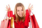 女性ショッピングの肖像画 — ストック写真