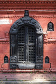 Carved hindu temple window — Stock Photo