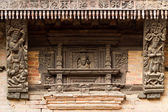 Hindu temple carved details — Stock Photo