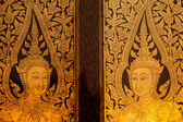 Buddhist temple door — Stock Photo