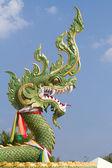 Green dragon sculpture — Stock Photo