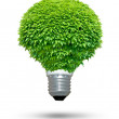 Renewable energy source - Green lightbulb concept — Stock Photo #11983131