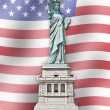 Statue of Liberty - United States - Flag background — Stock Photo #12253648