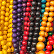 Colorful beads folk Art - Zakopane Poland — Stock Photo