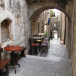 Narrow street - Krk Croatia — Stock Photo