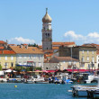 port cities krk - in the south of croatia — Stock Photo