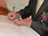 Bridal Registry Signing - Solemn registration of marriage — Stock Photo