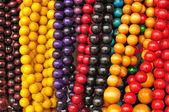 Colorful beads folk Art - Zakopane Poland — Stock Photo