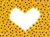 Heart - yellow flowers — Stock fotografie
