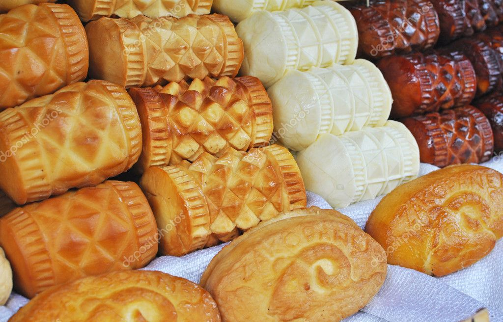 Traditional polish smoked cheese known as oscypek stock for Authentic polish cuisine