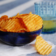 Chips and beer — Stock Photo