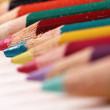 Stock Photo: Macro crayons