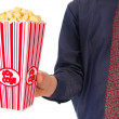 Stock Photo: Popcorn movie