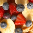 Fruits and waffles — Stock Photo #11998943