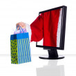 Xmas monitor — Stock Photo #11999670