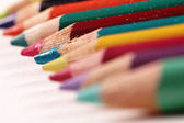 Macro crayons — Stock Photo