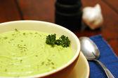 Soup Cream of Avocado — Stock Photo
