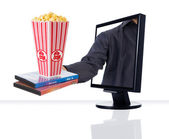 Monitor Entertainment — Stock Photo