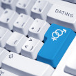 Internet dating — 图库照片