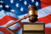 Justitie hamer — Stockfoto