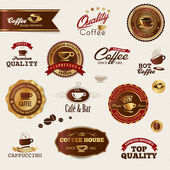 Coffee labels and elements — Stock Vector