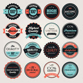 Set etiketten en en badges — Stockvector