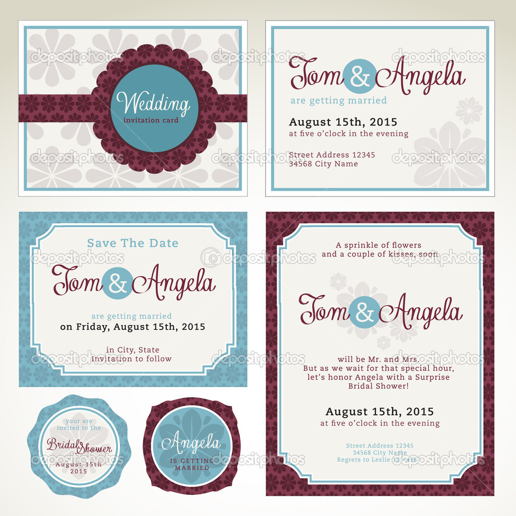 Wedding invitation card templates Vector Variant 11986517 – Template Invitation Card