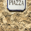 Stock Photo: Square,piazza, sign