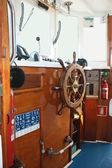 Yacht steering wheel — Stock Photo