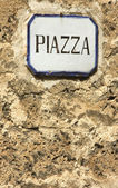 Square,piazza, sign — Stock Photo