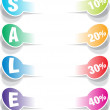 SALE realistic paper stickers design elements — Stock Vector