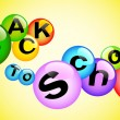 Back to school - high quality 3d illustration multicolored bubbl — Stock Vector