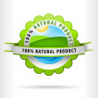 Green Clean Air Land and water for 100 percent Natural Product — Stock Vector