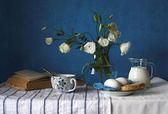 Breakfast in Blue — Stock Photo