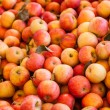 Background of Fuji Apples - Stock Photo
