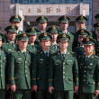 Chinese Military Police in Shanghai - Stock Photo