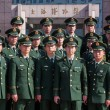 Stock Photo: Chinese Military Police in Shanghai