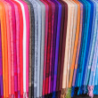 Rainbow of Scarves — Stock Photo
