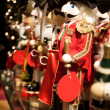 Red Christmas Nutcracker on at a Toy Store - Stock Photo