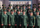 Chinese Military Police in Shanghai — Stock Photo