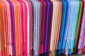Rainbow of Scarves — Stock Photo