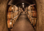 Wine Barrel Cave Storage — Stock Photo