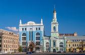 Former Greek Monastery on the Kontraktova Square. Kiev, Ukraine — Foto de Stock