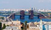 Construction of a new bridge over the Dnieper. Kiev, Ukraine — Stock Photo