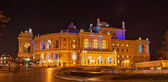 Odessa Opera and Ballet Theater at night. Ukraine — Stockfoto