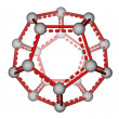 Fullerene C20 molecular structure — Stock Photo