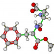 Stock Photo: Aspartame molecular model