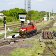 Shunter on a retarder of a hump yard — Stock Photo #12083607