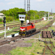 Stock Photo: Shunter on retarder of hump yard