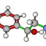 Постер, плакат: Adrenaline molecular model